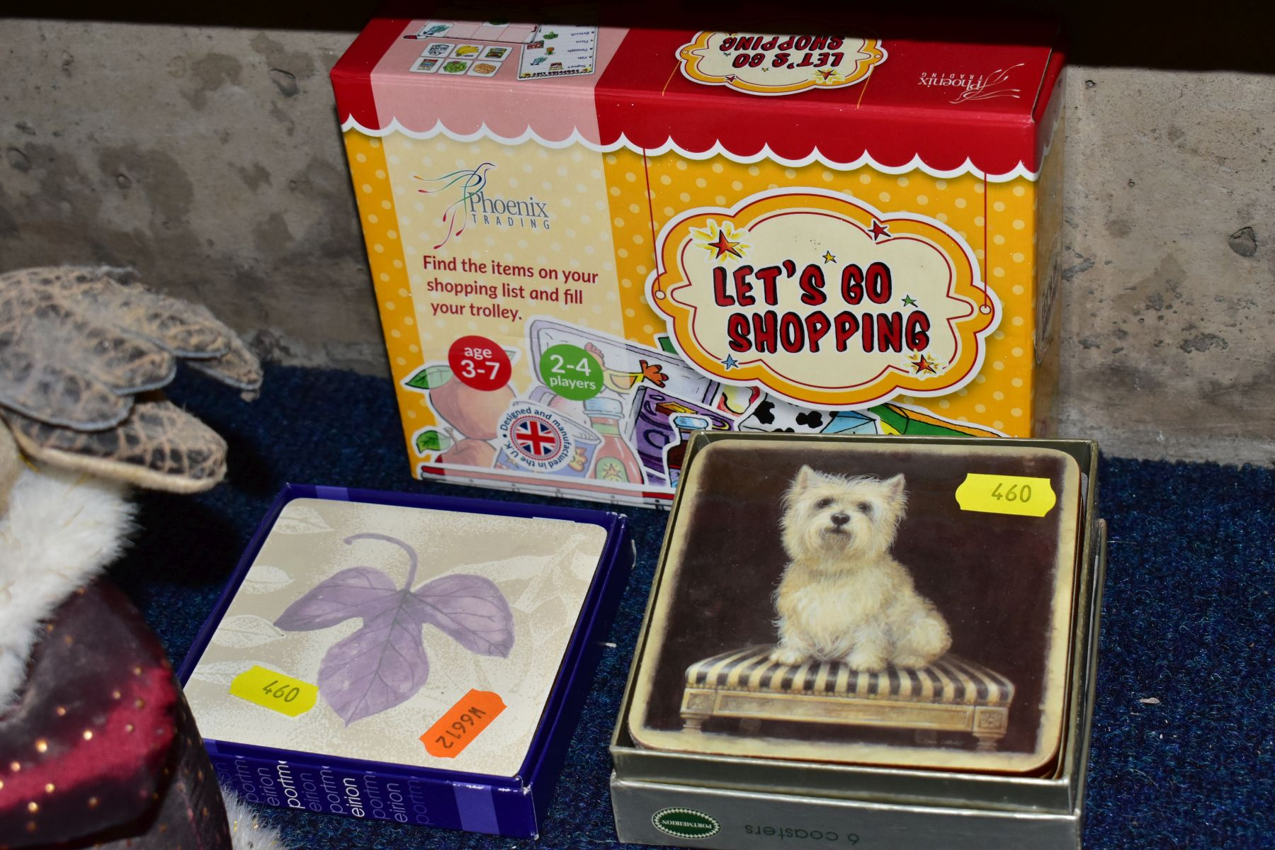 FOUR BOXES AND LOOSE METALWARE, HOUSEHOLD SUNDRIES, OIL LAMP, etc, to include board games, book - Image 10 of 16