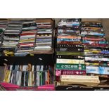 FOUR BOXES OF DVD'S, CD'S AND LOOSE including two boxed sets of DVD's, a boxed CD collection '
