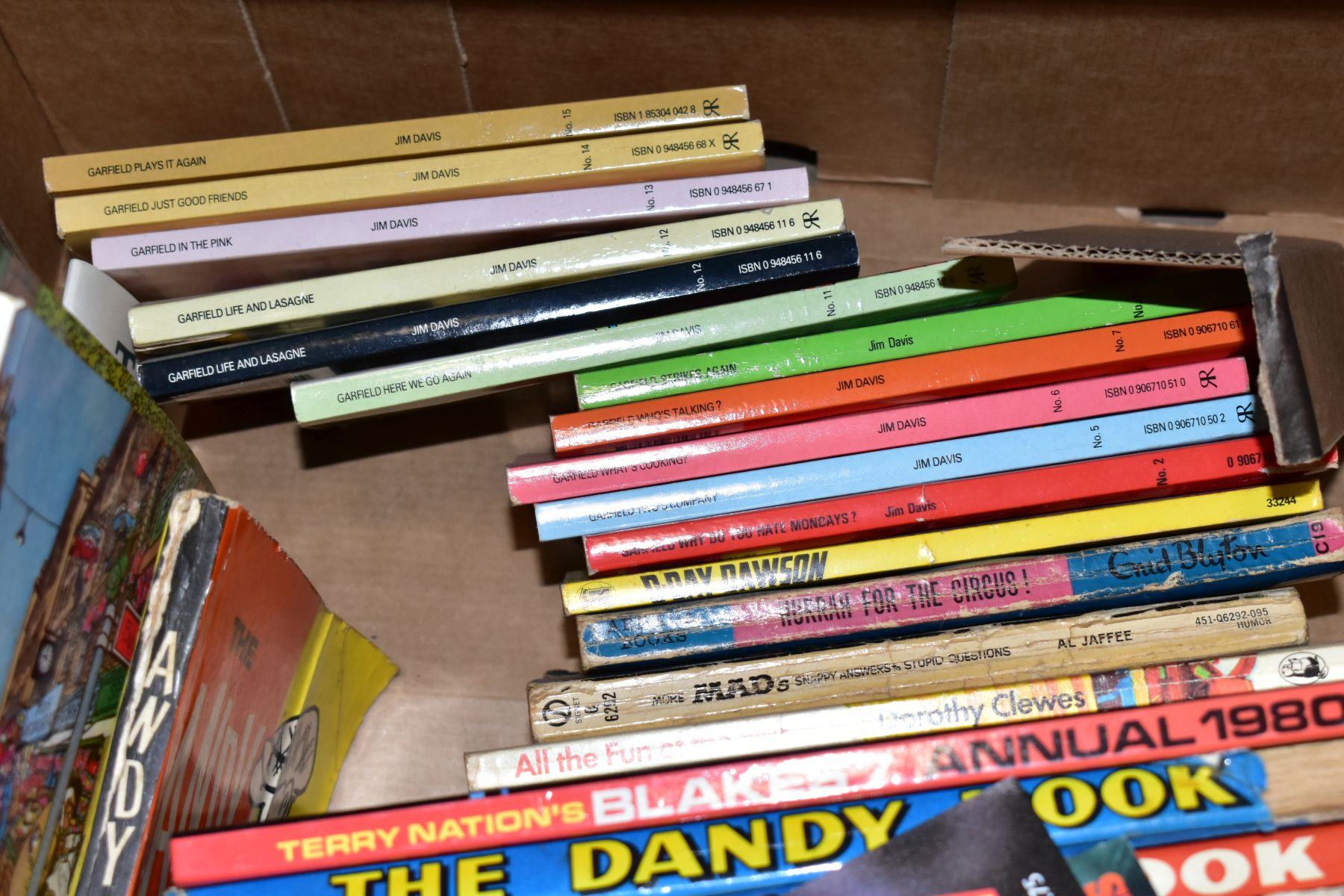 FOUR BOXES OF BOOKS, MAGAZINES AND A FRAMED AND GLAZED PRINT OF LITTLE MISS MUFFET, the books - Image 7 of 8