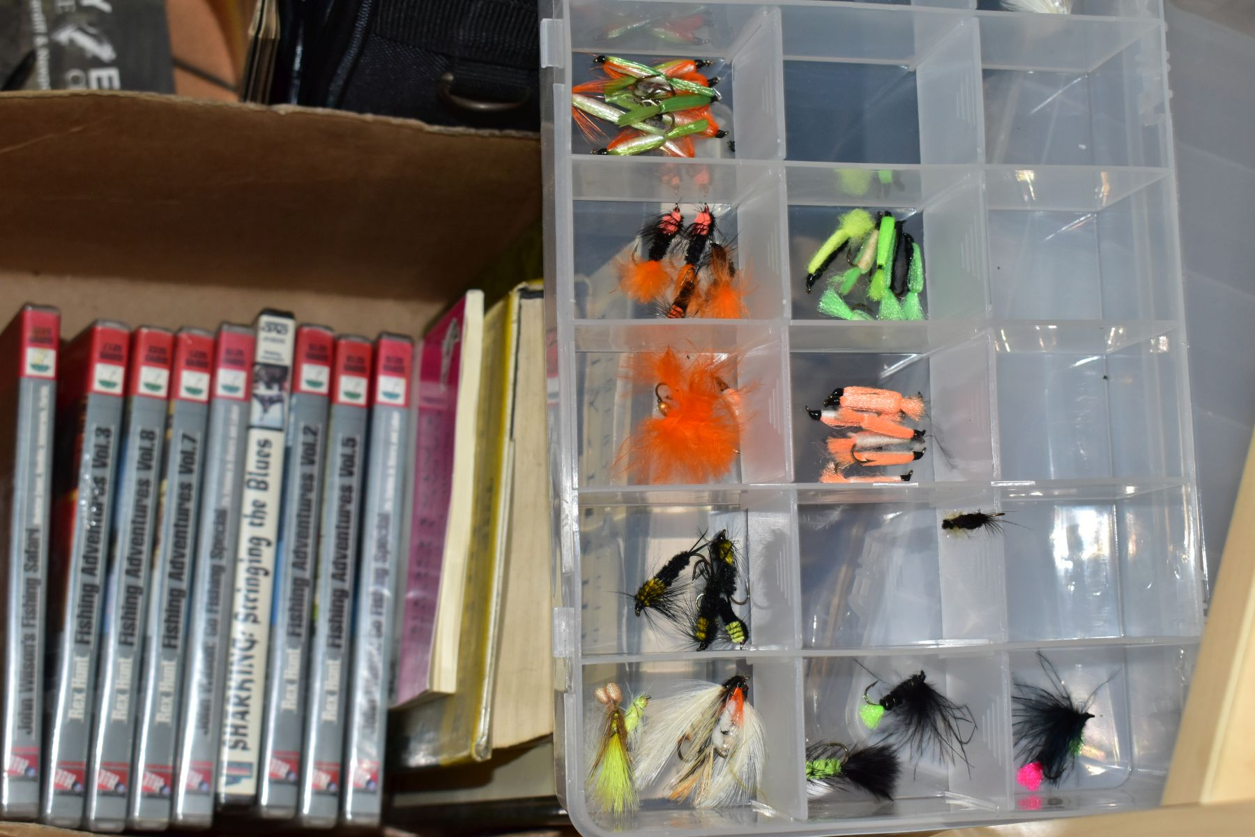 FISHING EQUIPMENT, to include three Alan Pearson Boron fly fishing rods, Shakespeare nymph fly - Image 4 of 7