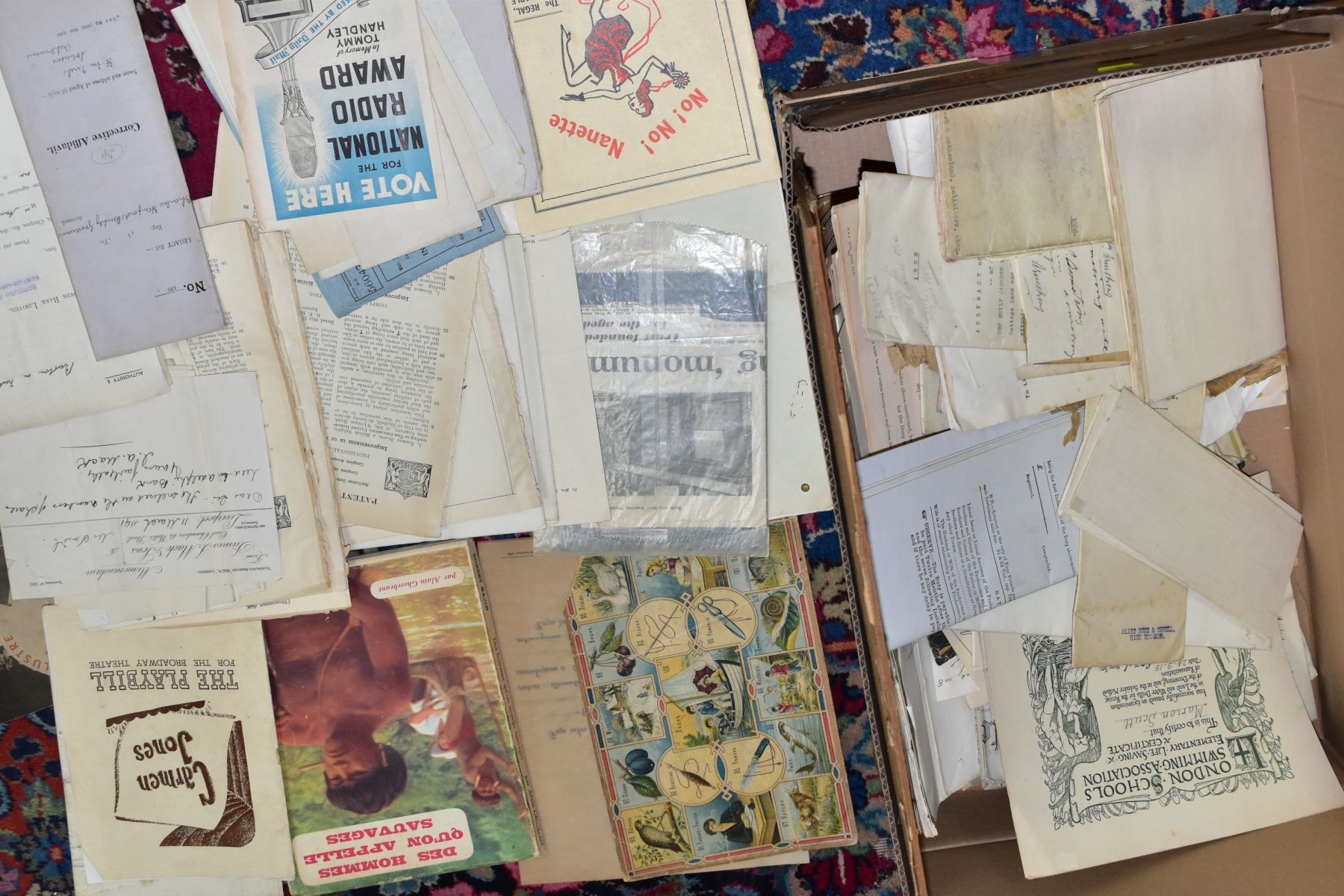 EPHEMERA, THREE BOXES OF PAPER EPHEMERA, to include newspapers/cuttings, maps, indentures, - Image 3 of 4