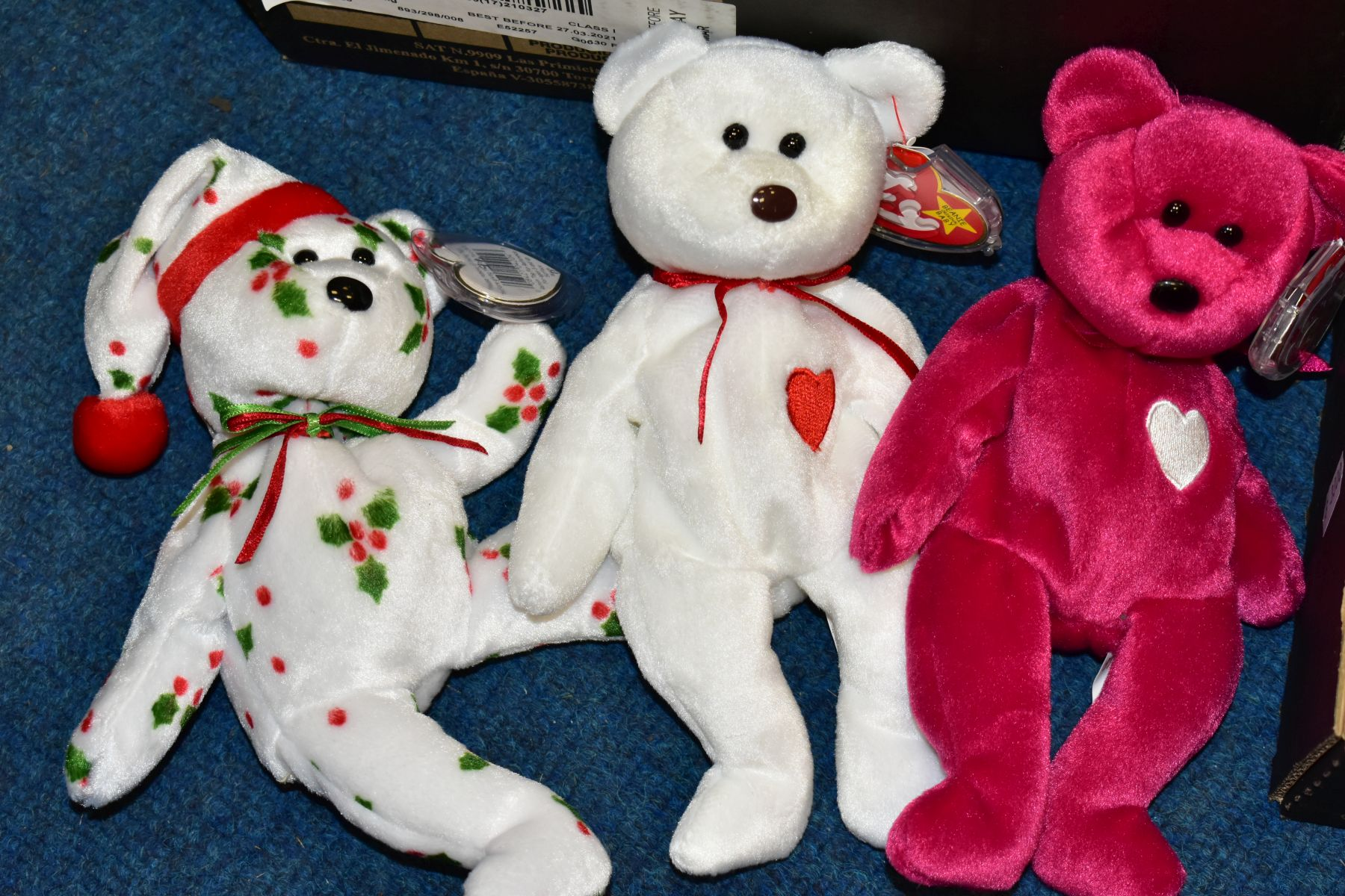 TWO BOXES OF ASSORTED TY BEANIE BABIES, majority with tags, includes Platinum Membership case, - Image 3 of 7