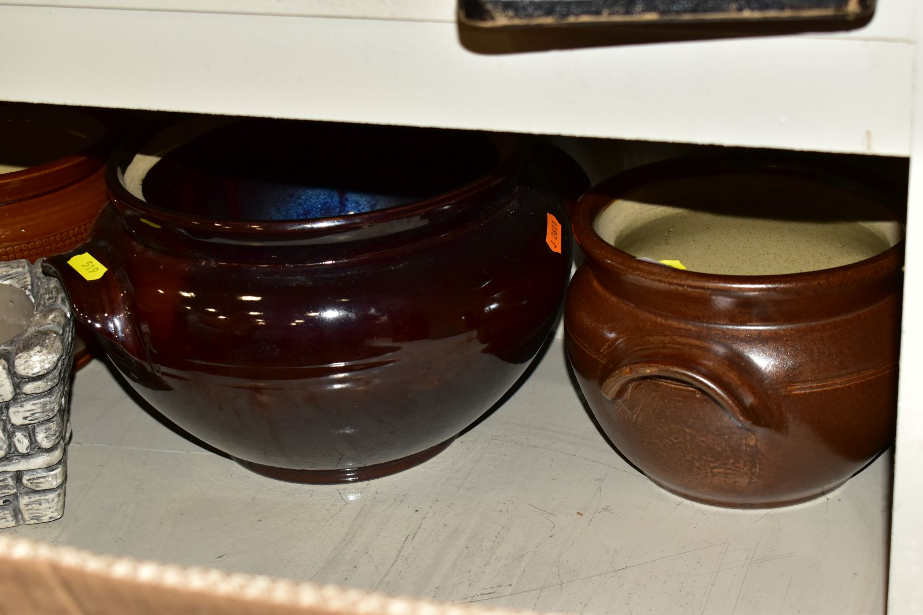 TWO BOXES AND LOOSE STONEWARE etc, including Hillstonia, Studio pottery, stoneware jugs and flagons, - Image 5 of 8