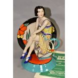 A BOXED LIMITED EDITION KEVIN FRANCIS CERAMICS FIGURE, 'Young Clarice Cliff - Renaissance' by Andy