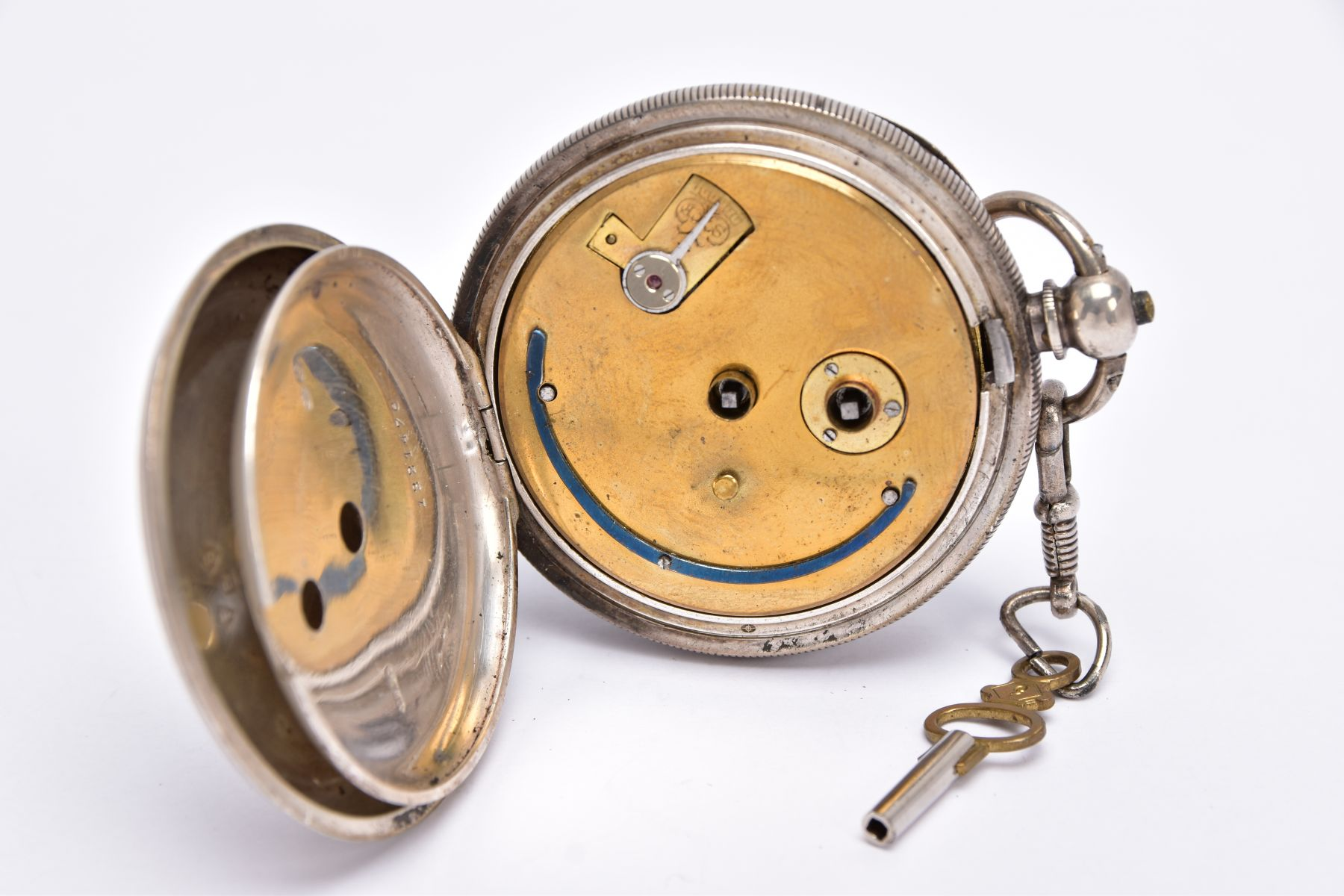 AN EARLY GEORGE V OPEN FACED SILVER POCKET WATCH, white dial signed 'Fattorini & Sons Ltd, Westgate, - Image 5 of 6
