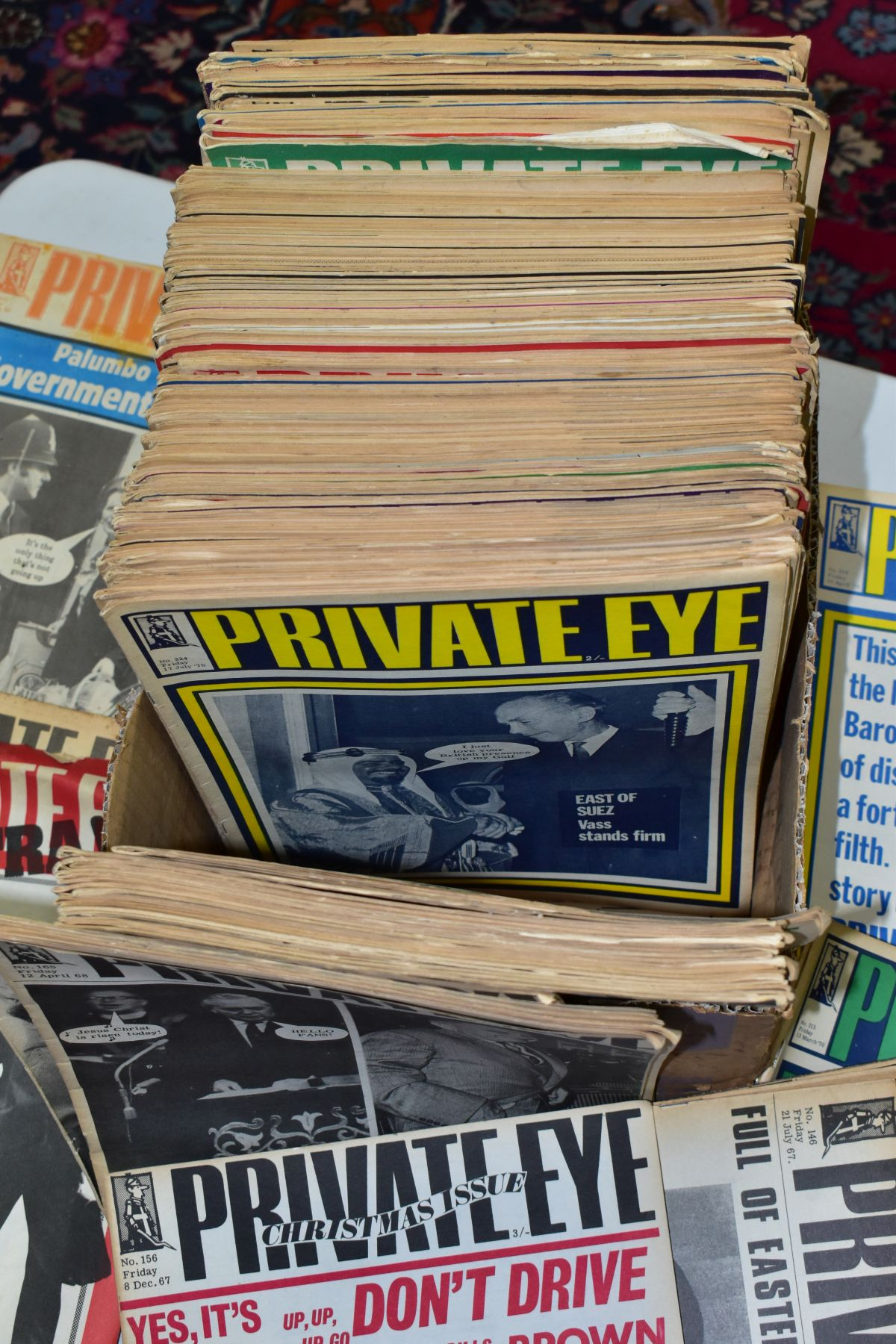 PRIVATE EYE MAGAZINE, a collection of 188 copies of Private Eye, 184 editions from 1966-1974, - Image 2 of 4