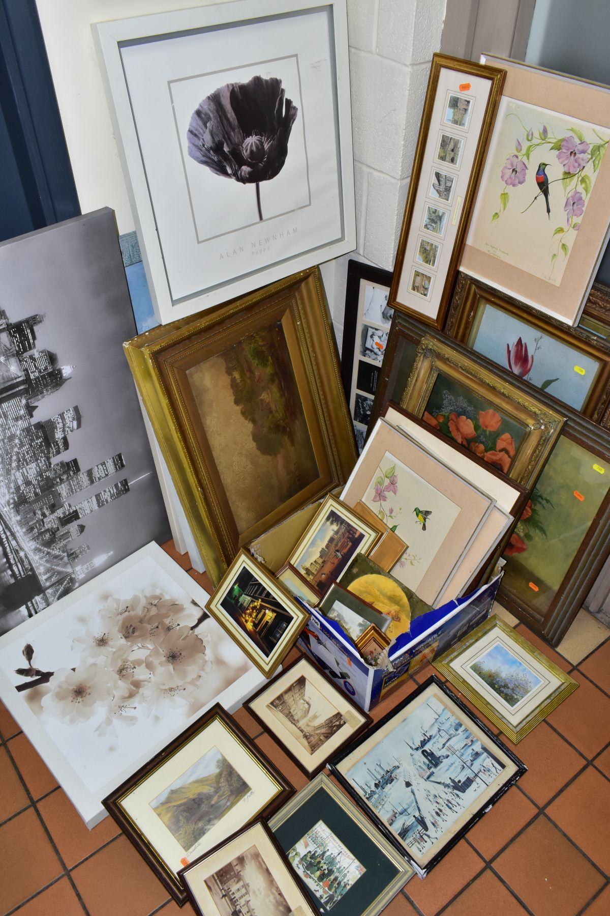 PAINTINGS AND PRINTS, to include an unsigned oil on board circa late 19th/early 20th century,