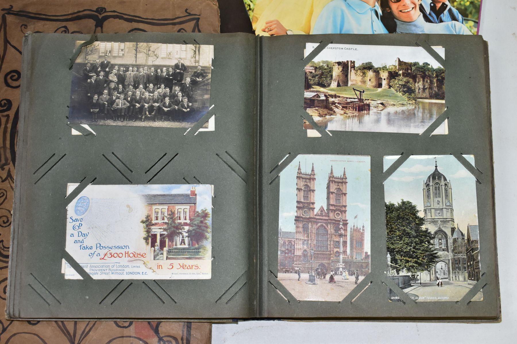 EPHEMERA, once box containing three Edwardian Postcard Albums (approximately 325 postcards), to - Image 17 of 23