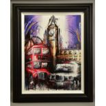 SAMANTHA ELLIS (BRITISH 1992) 'PLAYING FOR TIME' a limited edition print of London icons 41/195,