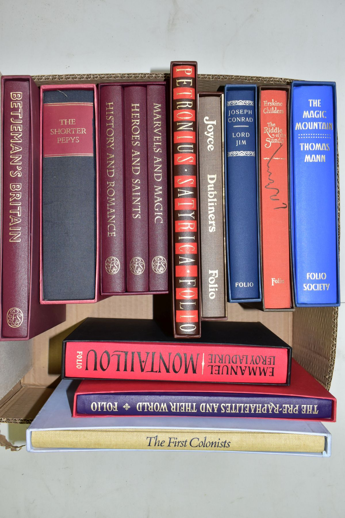 THE FOLIO SOCIETY, thirteen titles and one other comprising The First Colonists, Hakluyt's Voyages