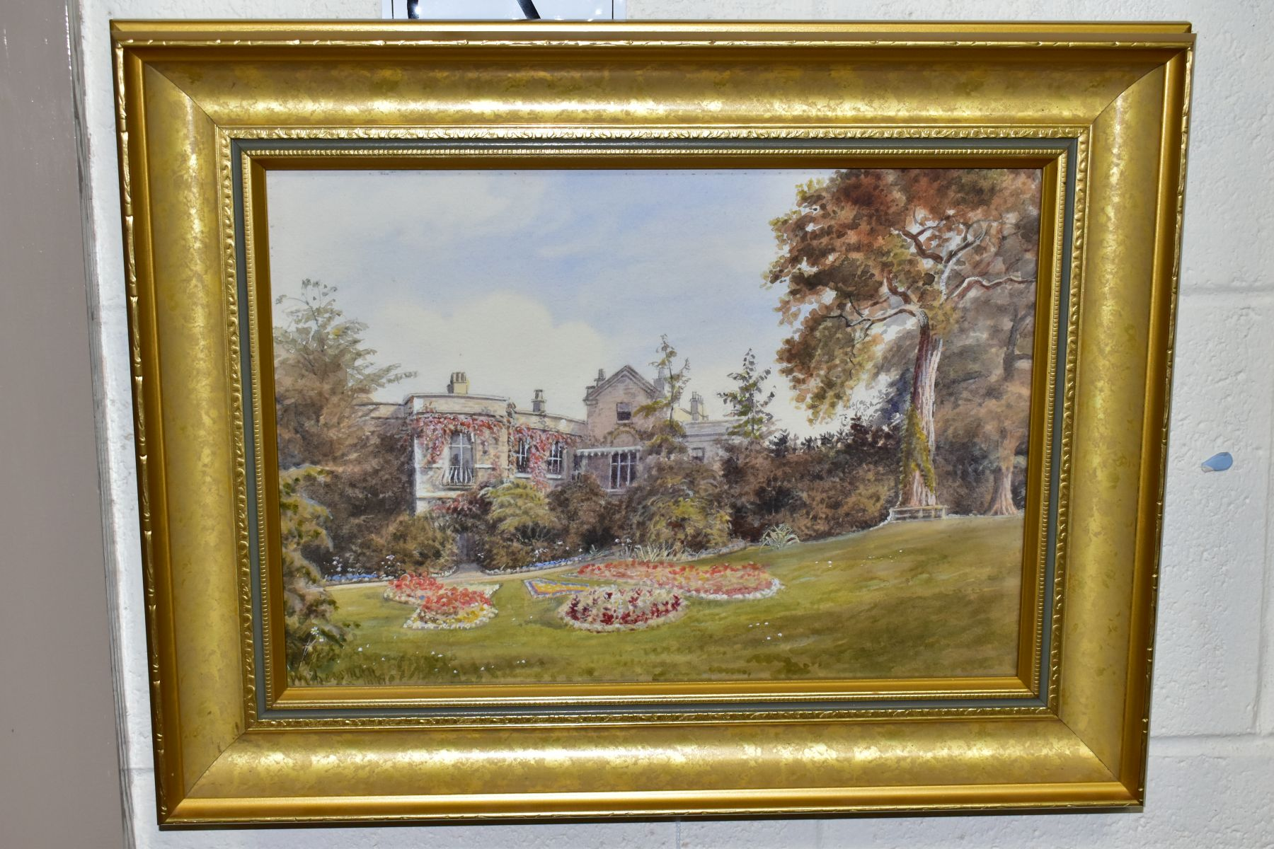 WILLIAM CHEESMAN (CIRCA 1841-1910)'WHITE LODGE, RICHMOND PARK, SURREY'?, a view of a stone built