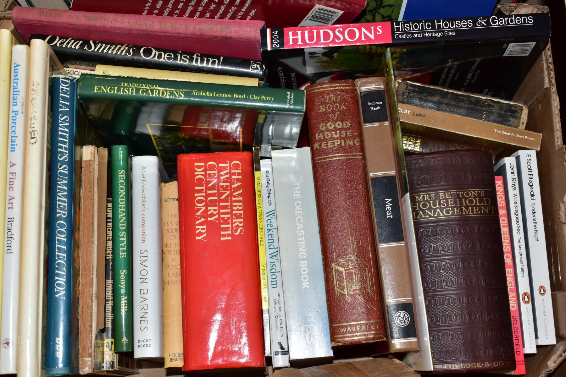TWO BOXES OF BOOKS AND CDS including cookery interest, gardening interest, novels, etc, Ward - Image 2 of 4