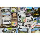 POSTCARDS AND CIGARETTE CARDS, one box of modern postcards, photocards (parish Church, Stone) and