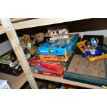 A QUANTITY OF ASSORTED BOARD GAMES AND PUZZLES etc, to include Victory 'Mastermind', Ideal 'Rebard',