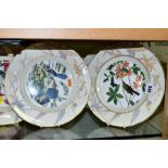 A SET OF EIGHT ROYAL WORCESTER THE JOHN JAMES AUDUBON BIRDS OF AMERICA CABINET PLATES six with