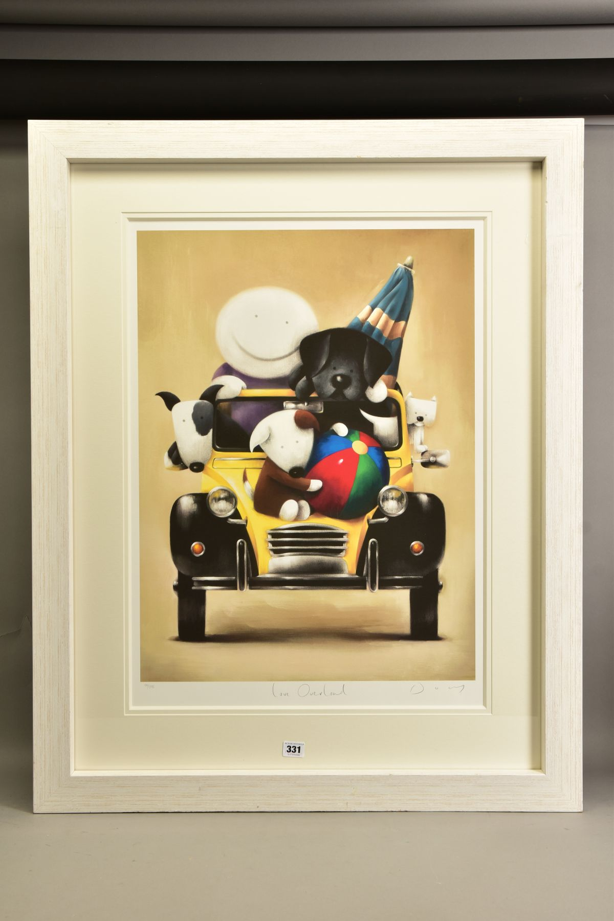 DOUG HYDE (BRITISH 1972) ' LOVE OVERLOAD', a boy and his pets in a Citroen 2CV, limited edition