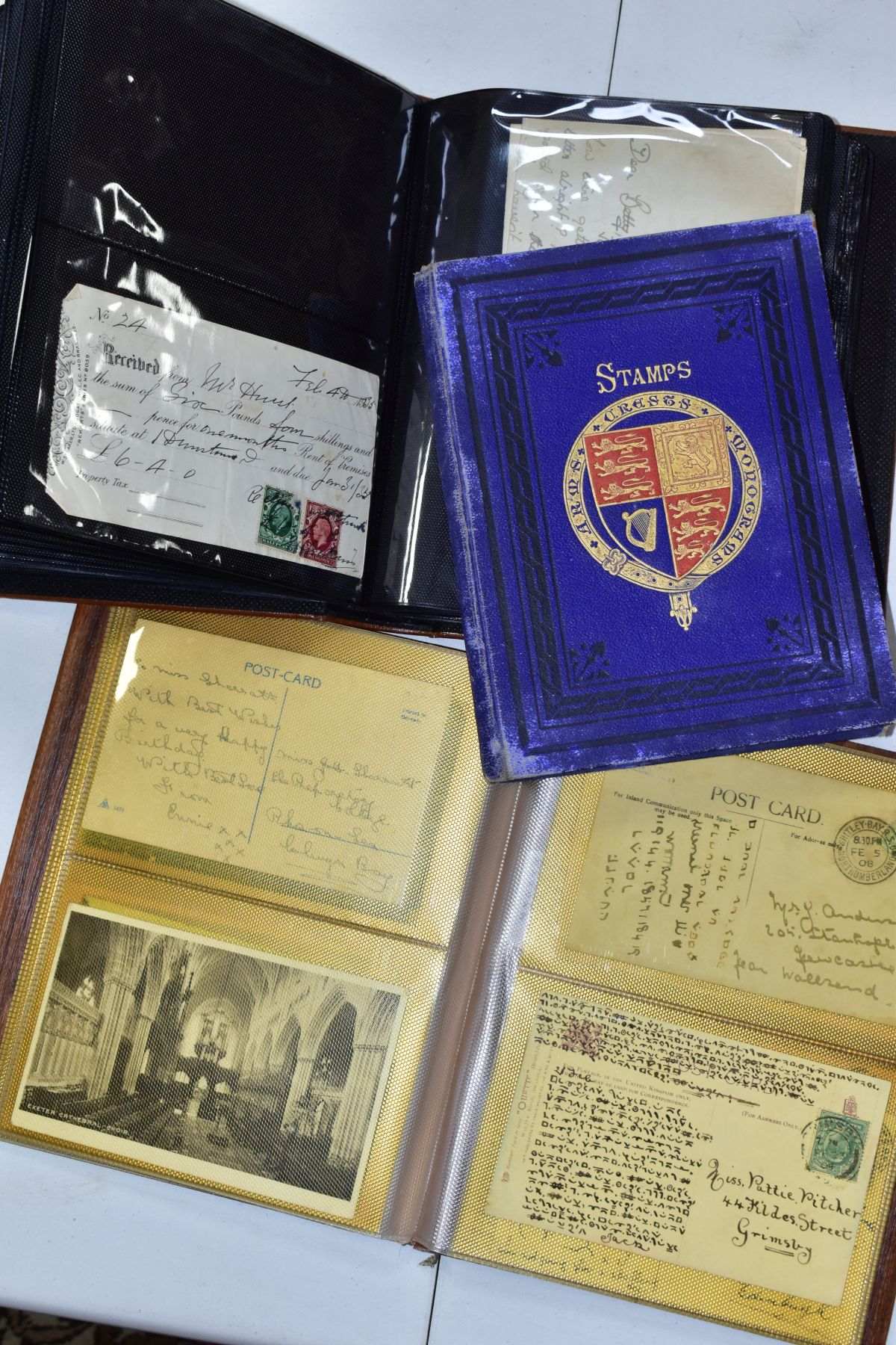 EPHEMERA AND POSTAL HISTORY, three albums containing an unusual collection of Arms and Crests, - Image 5 of 8