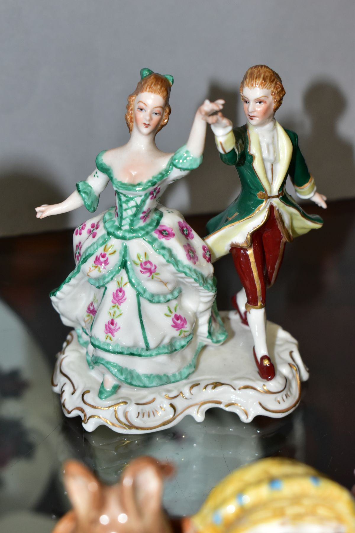 A SMALL GROUP OF ORNAMENTAL CERAMICS, comprising a Royal Worcester 'Sunshine' figure modelled by - Image 6 of 7