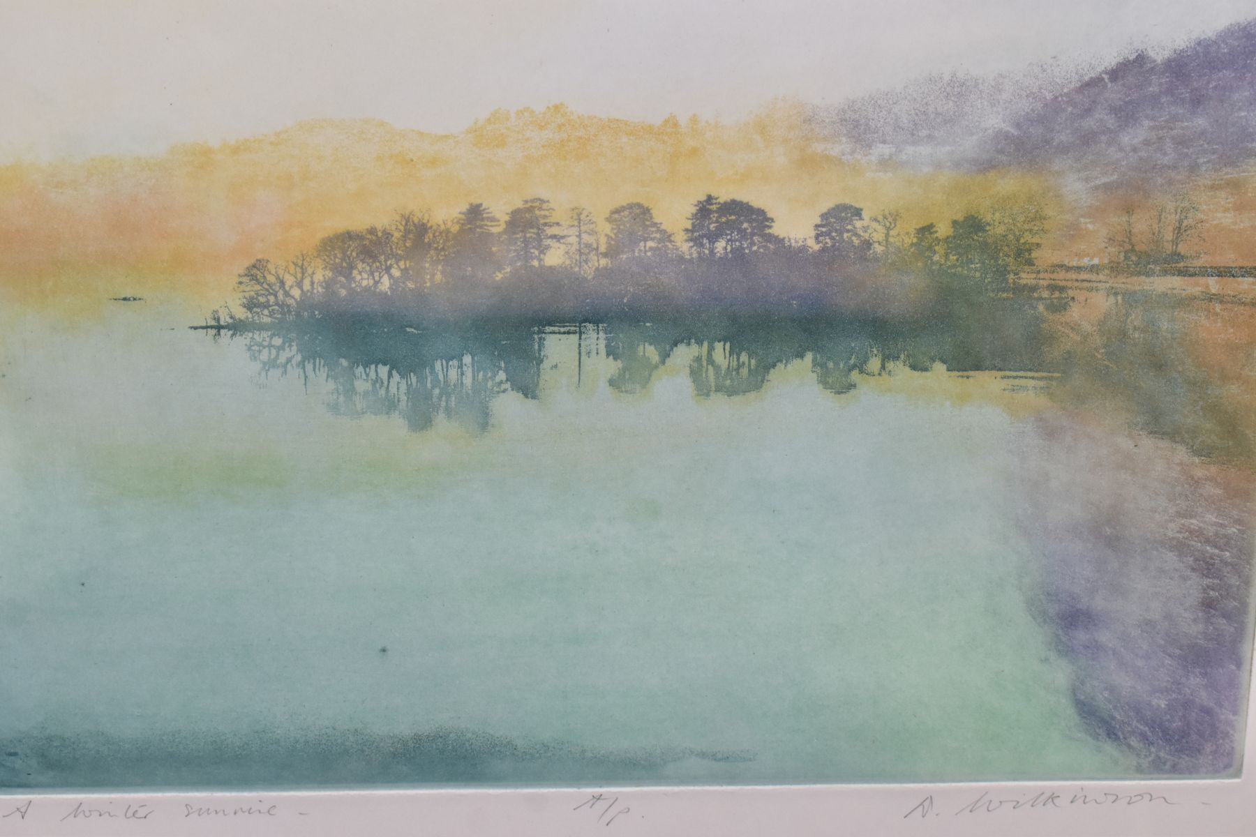 DONALD WILKINSON (BRITISH 1937) two artist proof aquatint etchings of Cumbrian landscapes, 'A Winter - Image 3 of 7