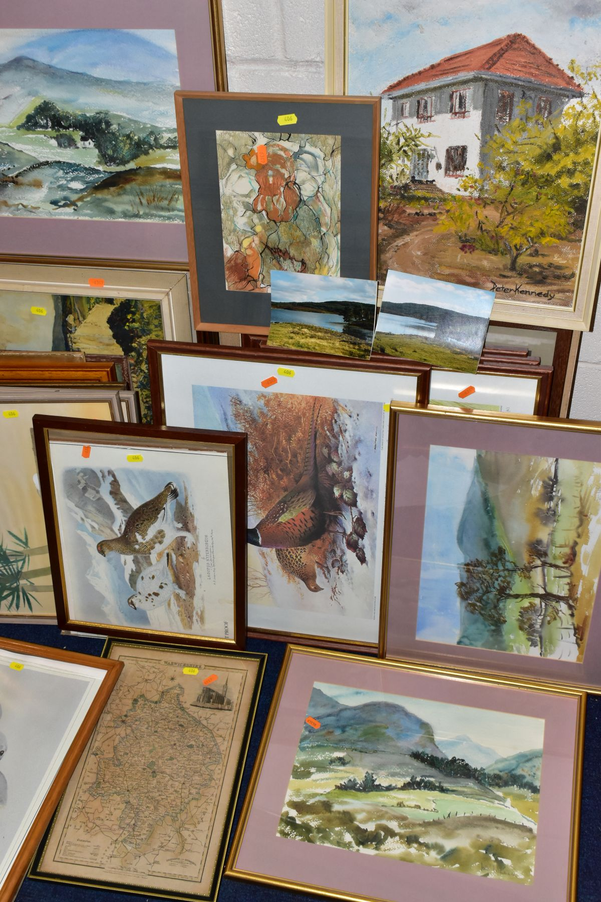 PAINTINGS AND PRINTS etc, to include four watercolour landscapes by Jose McKinnon, four signed - Image 3 of 3