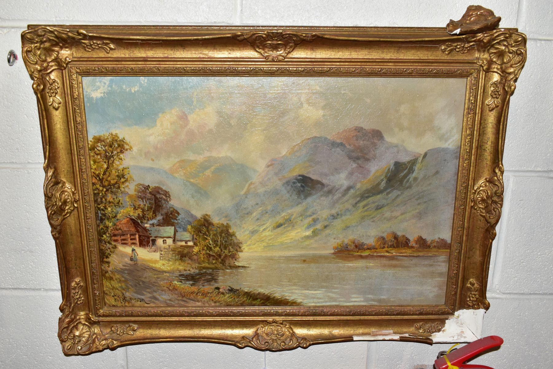 FRANCIS E. JAMIESON (1895-1950) 'LOCH SHIEL' a Loch and female figure to foreground mountains to the