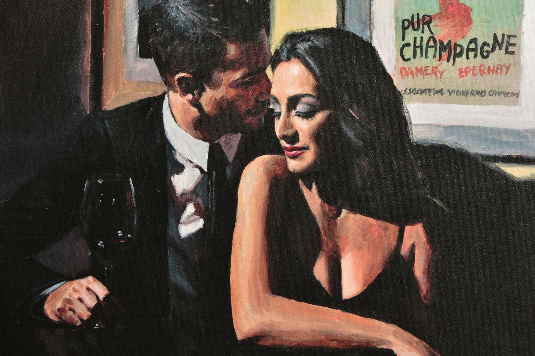 FABIAN PEREZ (ARGENTINA 1967) 'PROPOSAL AT HOTEL DU VIN', a limited edition print 36/95, male and - Image 2 of 8