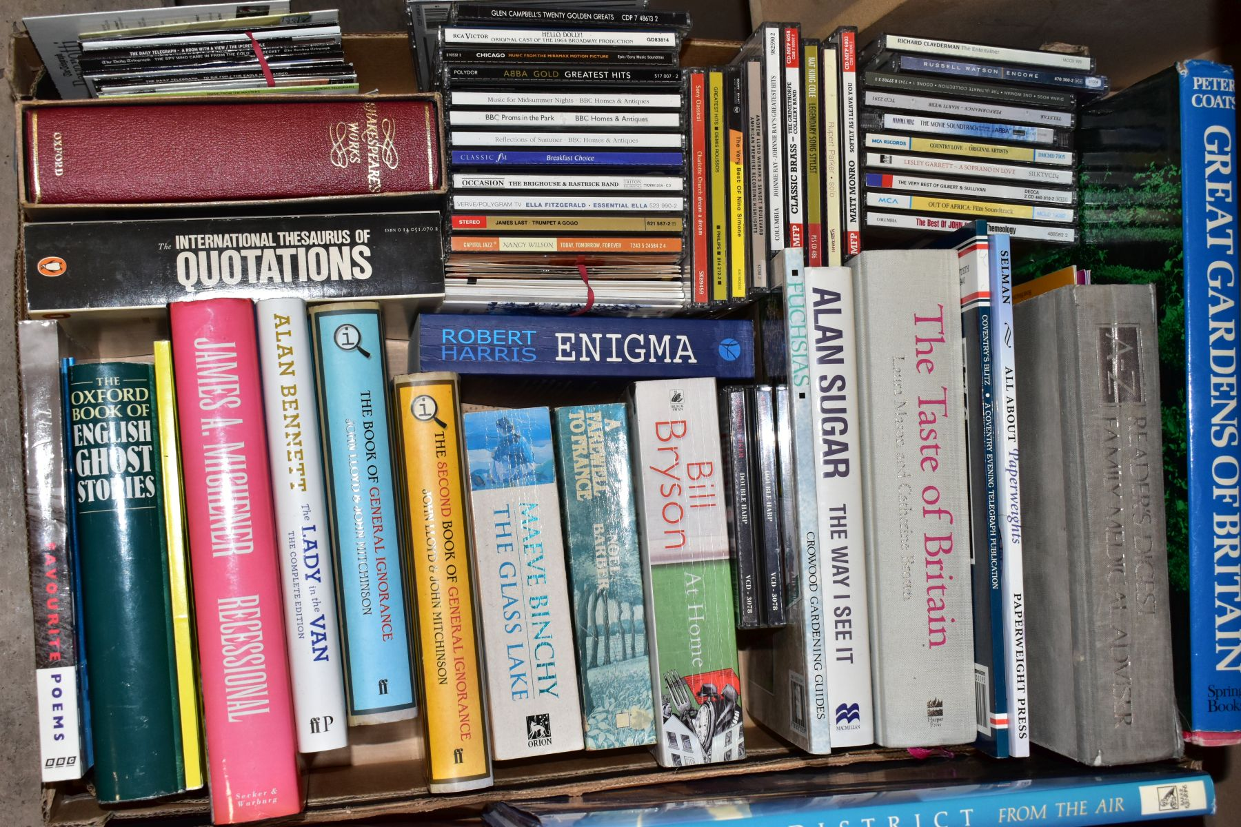 TWO BOXES OF BOOKS AND CDS including cookery interest, gardening interest, novels, etc, Ward - Image 3 of 4
