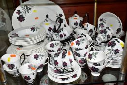 ROYAL ALBERT 'MASQUERADE' PART DINNER SERVICE, comprising six of each 26cm plate, 20.5cm side plates