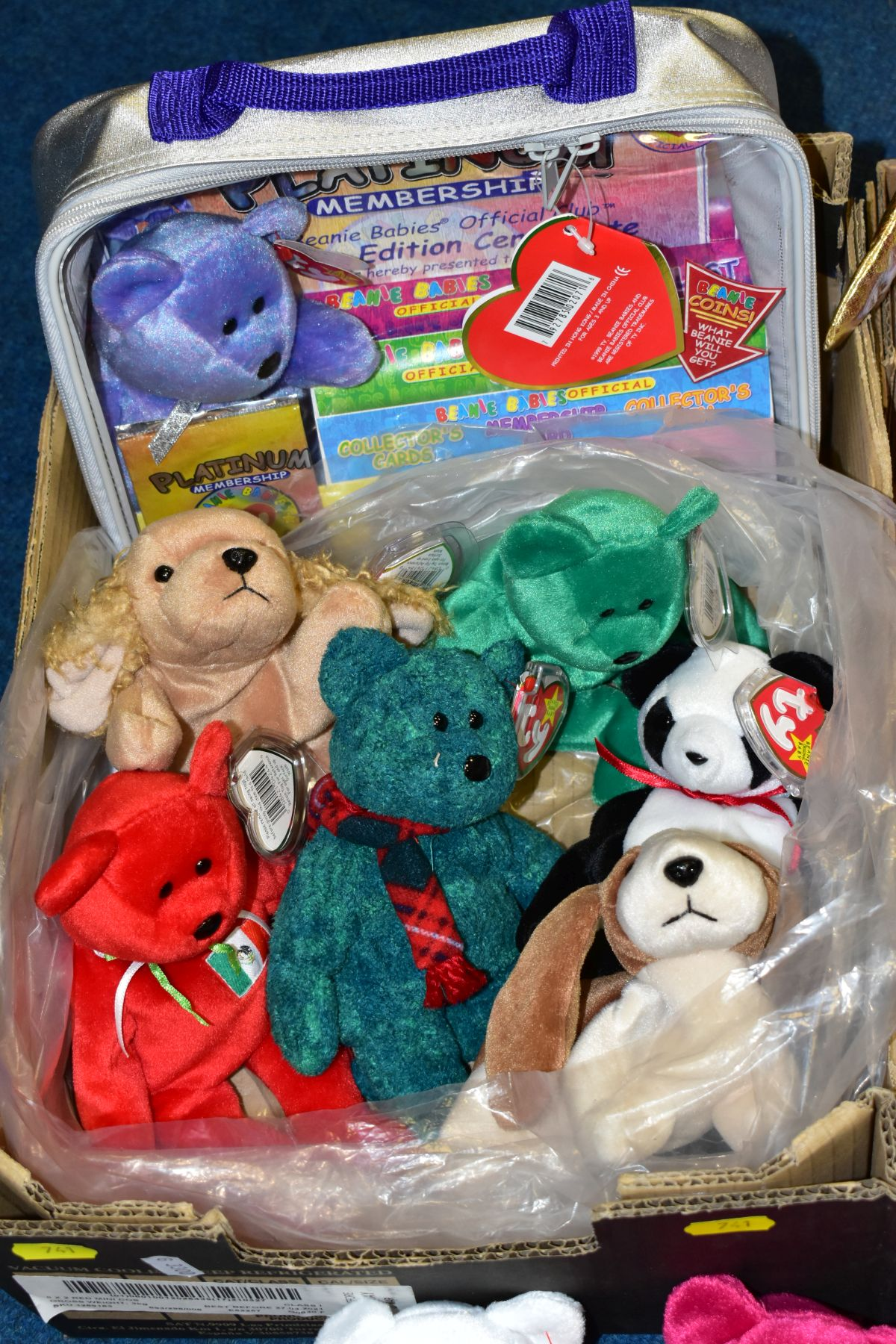 TWO BOXES OF ASSORTED TY BEANIE BABIES, majority with tags, includes Platinum Membership case, - Image 2 of 7