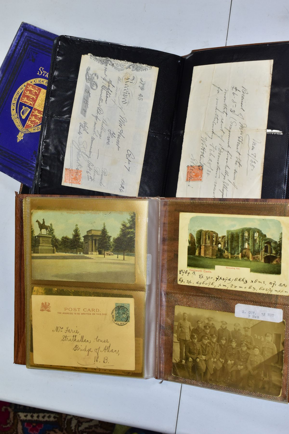 EPHEMERA AND POSTAL HISTORY, three albums containing an unusual collection of Arms and Crests, - Image 8 of 8