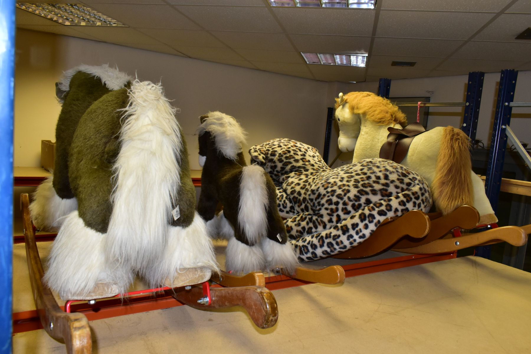 A MERRYTHOUGHT ROCKING LEOPARD, with a small Merrythought Rocking Horse, both in playworn - Image 9 of 18