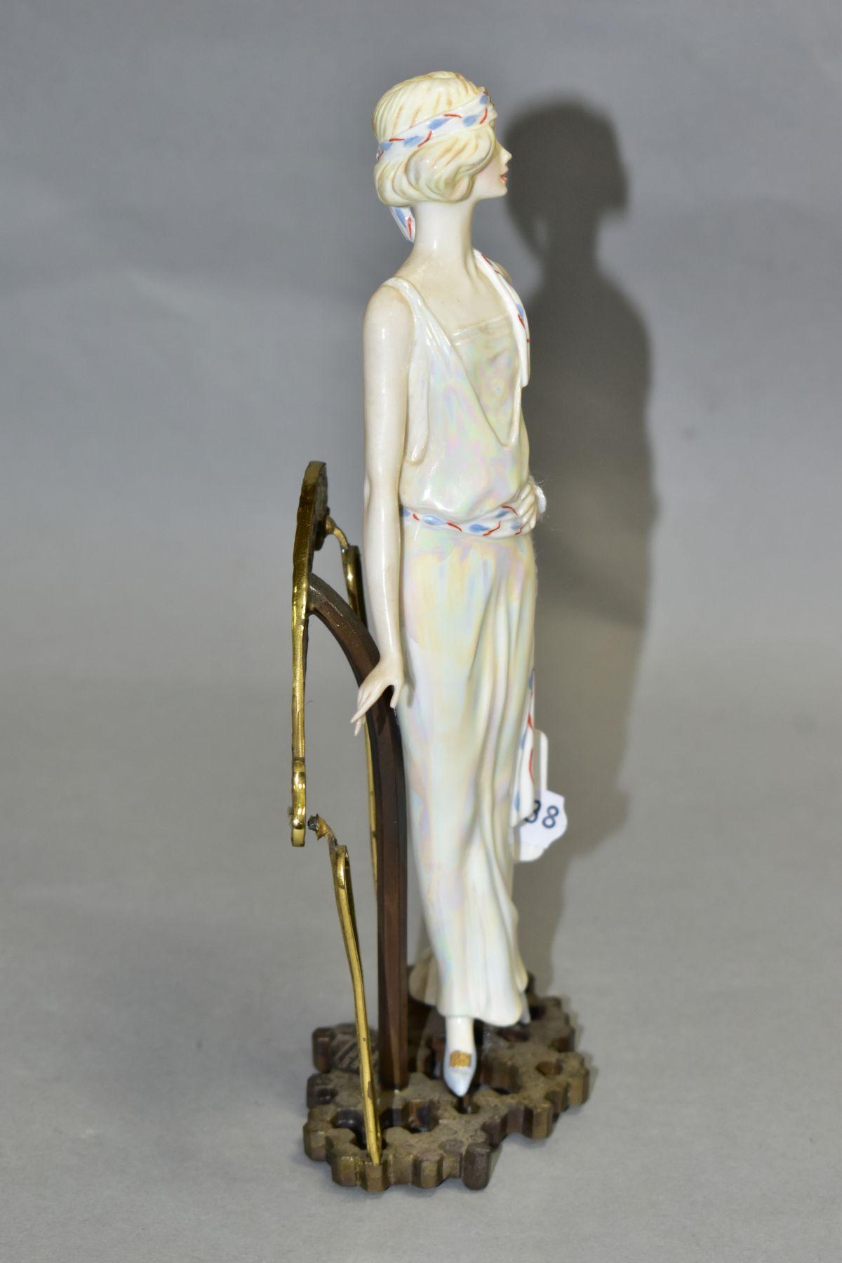 AN ALBANY BONE CHINA AND BRONZED 1920's FIGURINE, 'Waldorf', impressed mark to base, height 20cm ( - Image 2 of 6