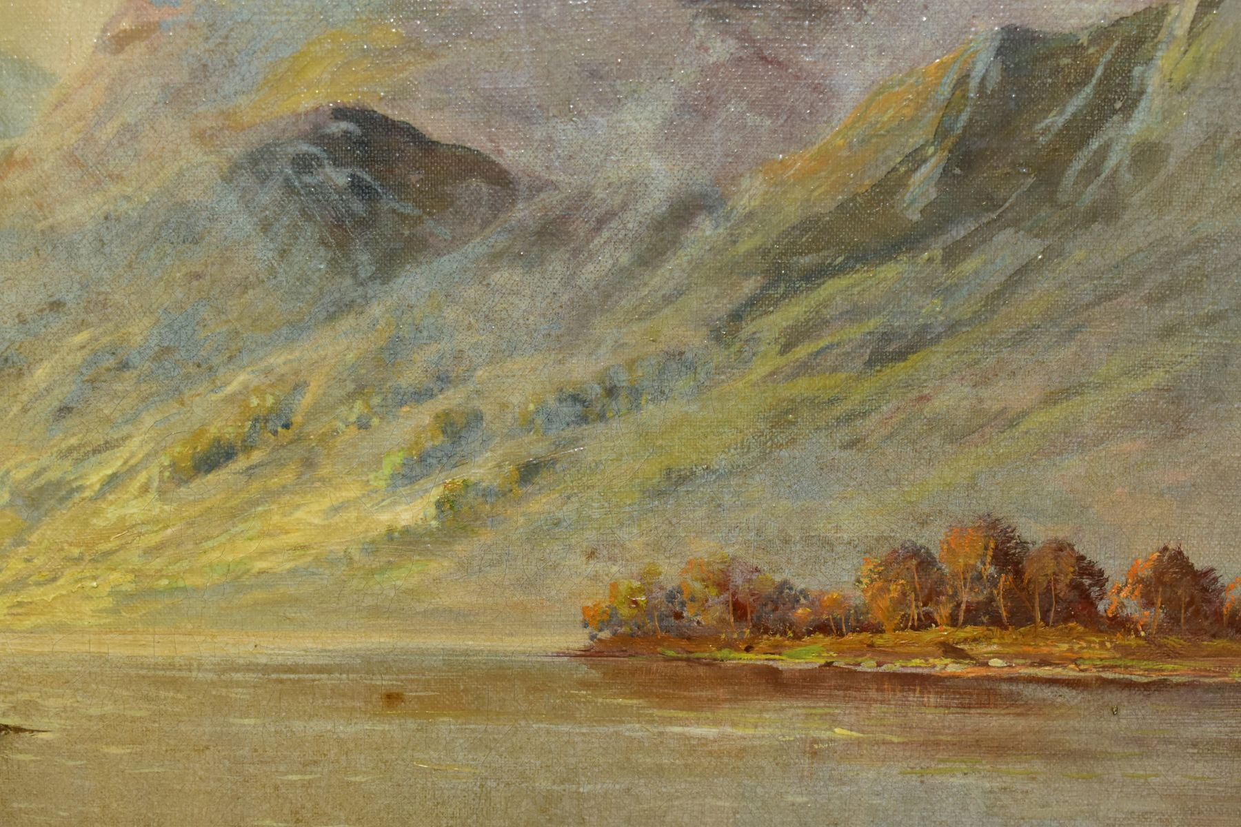 FRANCIS E. JAMIESON (1895-1950) 'LOCH SHIEL' a Loch and female figure to foreground mountains to the - Image 6 of 7