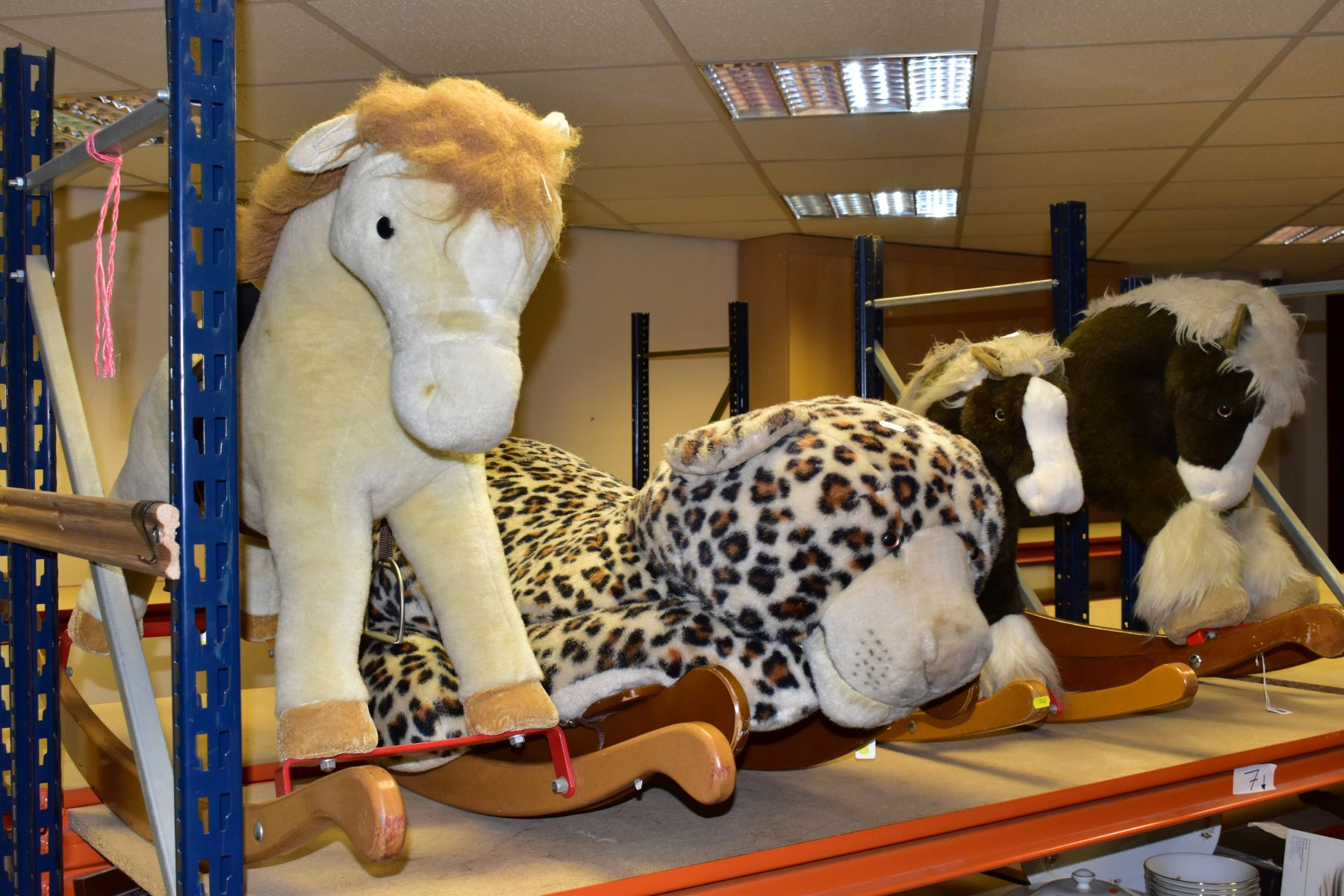 A MERRYTHOUGHT ROCKING LEOPARD, with a small Merrythought Rocking Horse, both in playworn - Image 7 of 18