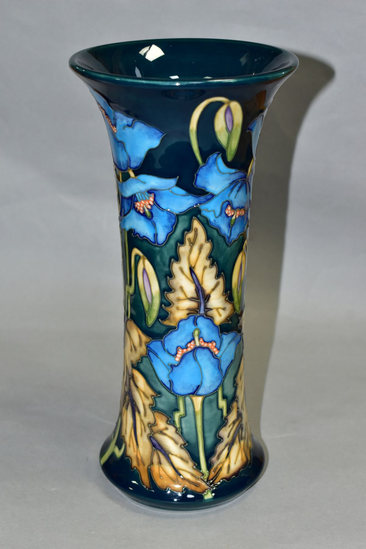 A MOORCROFT POTTERY LIMITED EDITION COLLECTORS CLUB, 'Blue Rhapsody' pattern vase, designed by - Image 2 of 5