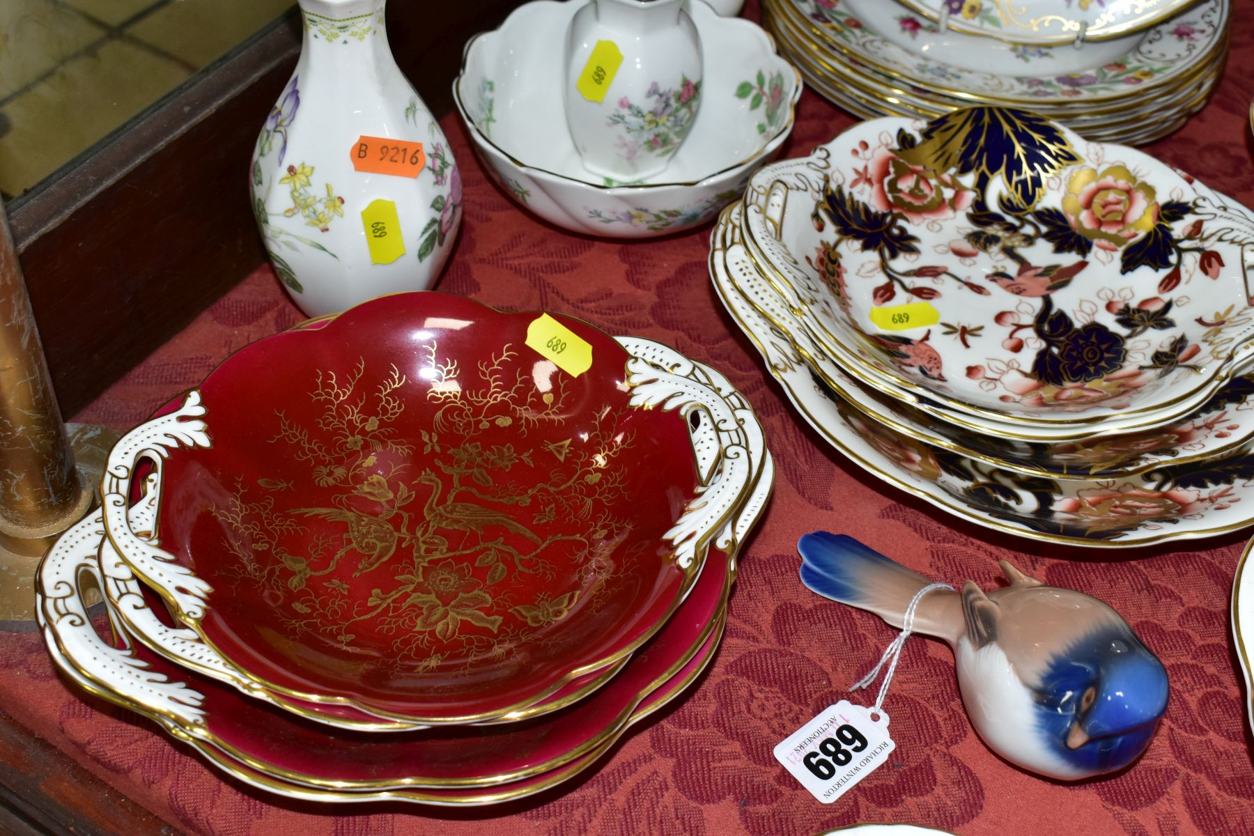 DECORATIVE CERAMICS, ETC, to include Royal Crown Derby 'Derby Posies' pintrays trinket box, - Image 6 of 13