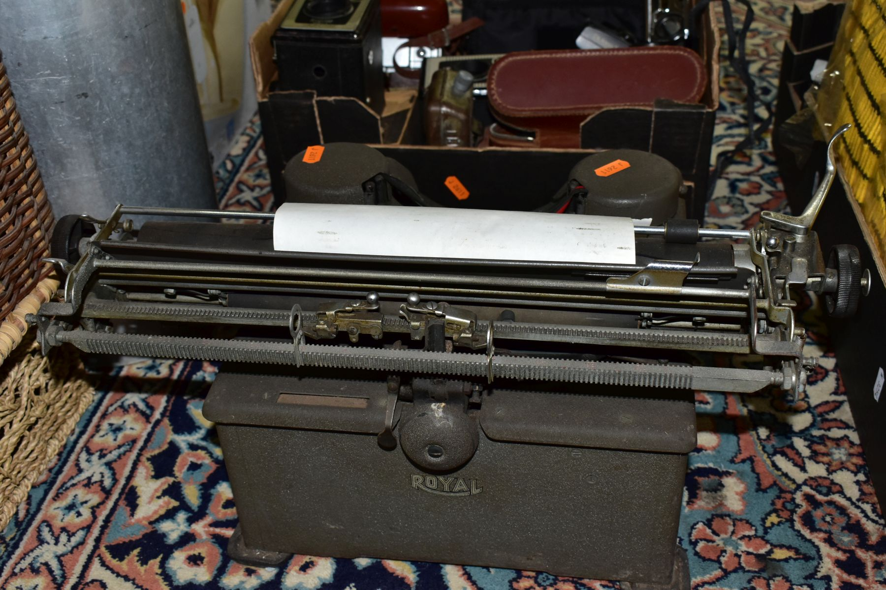 BINOCULARS, CAMERAS AND TYPEWRITER, ETC, to include a pair of Kershaw military prism No.2 MKIII - Image 9 of 9