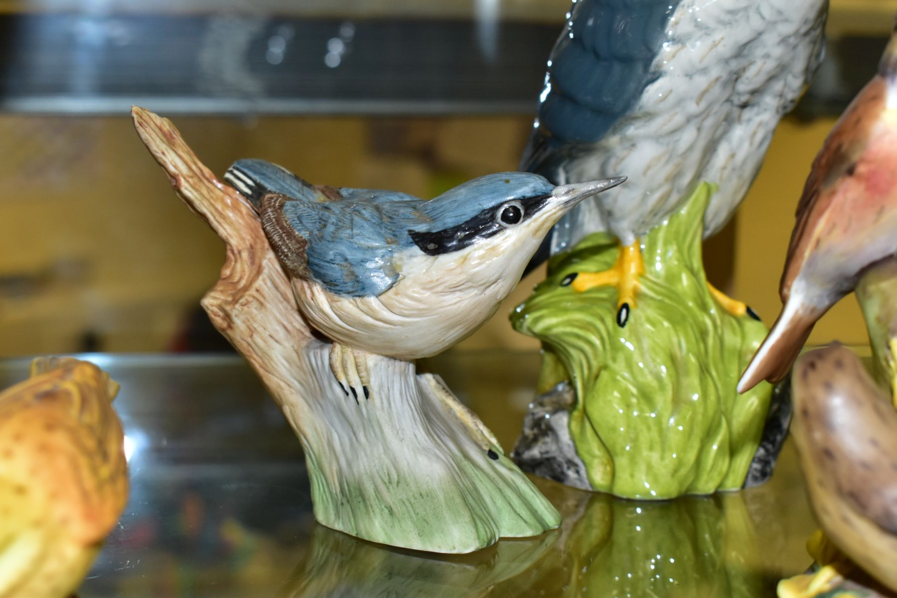 SIX VARIOUS ORNAMENTAL BIRDS, comprising a Beswick 'Golden Eagle Decanter' for Beneagles Scotch - Image 7 of 8