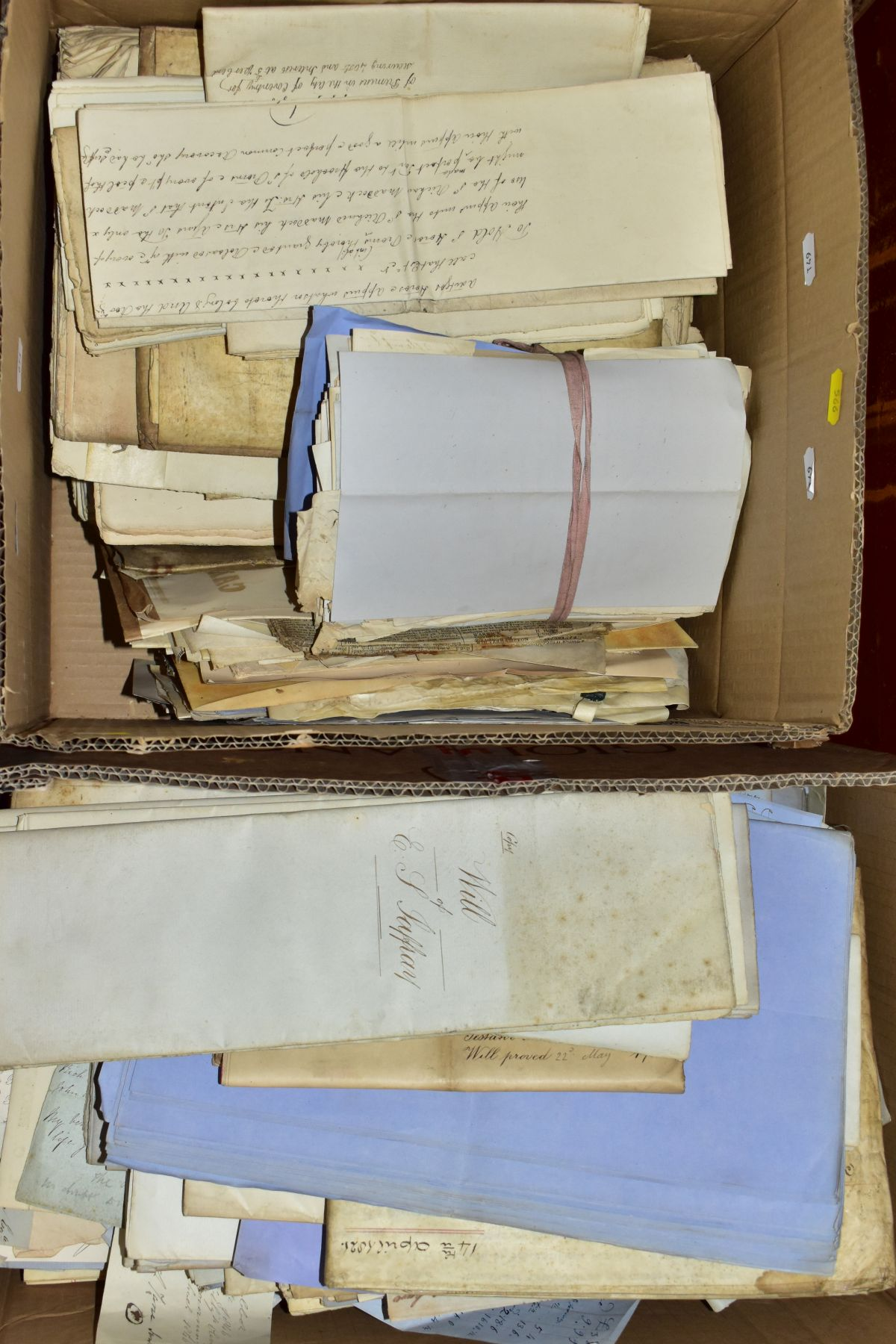 INDENTURES, a large metal trunk containing two boxes of several hundred Indentures, Conveyances, - Image 2 of 4