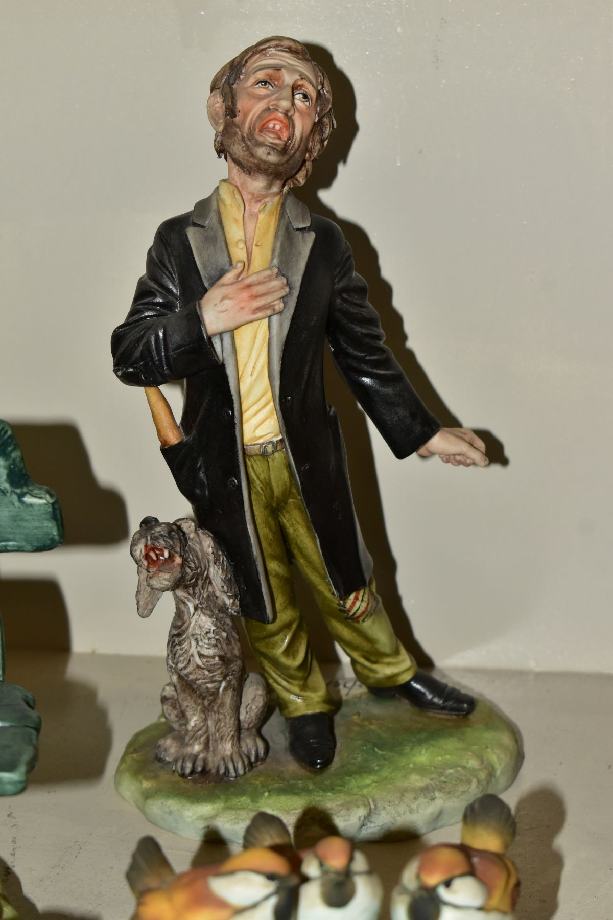CAPODIMONTE to include a Tramp on a Bench Feeding a Squirrel, modelled by Bruno Merli, approximate - Image 6 of 7