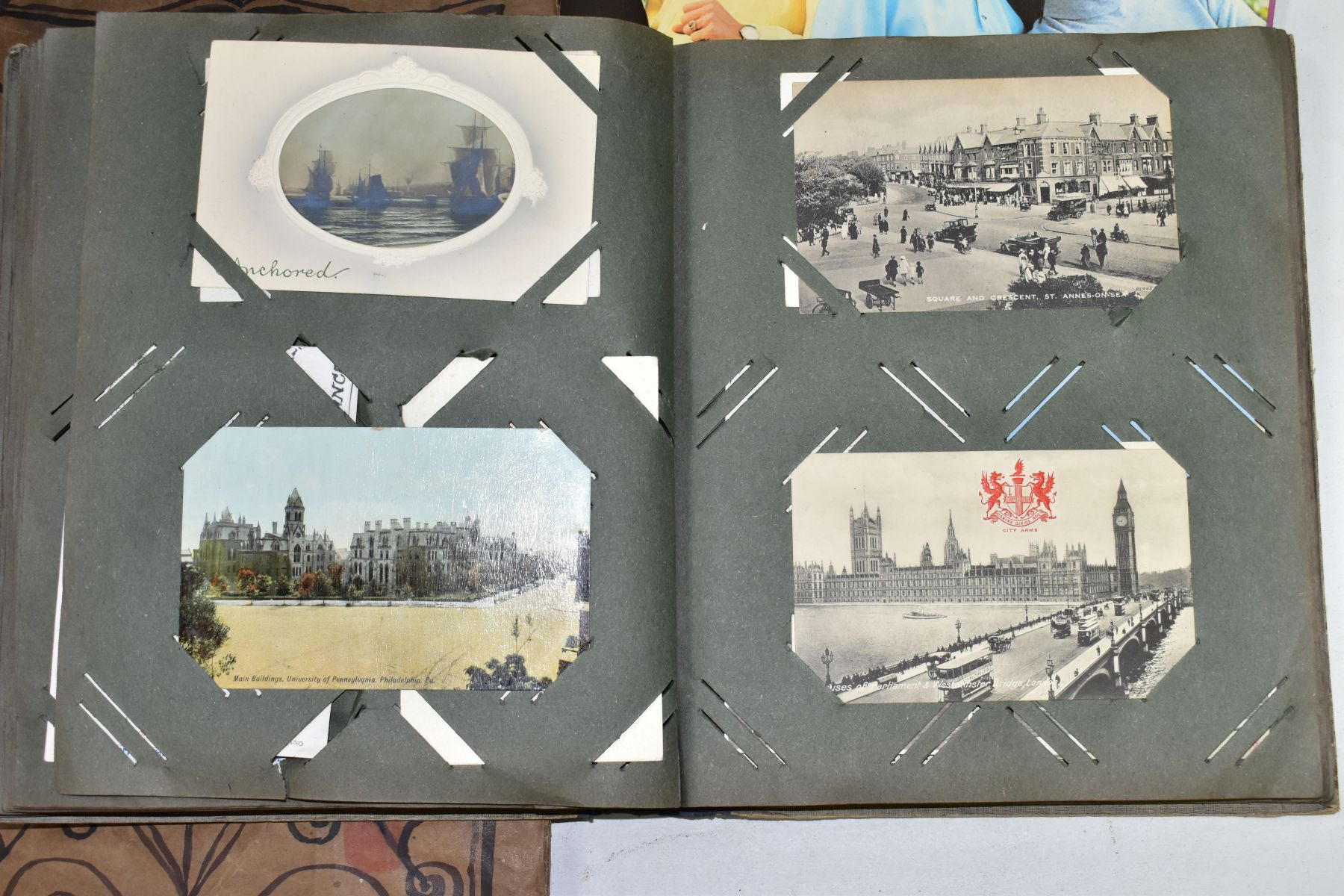EPHEMERA, once box containing three Edwardian Postcard Albums (approximately 325 postcards), to - Image 18 of 23
