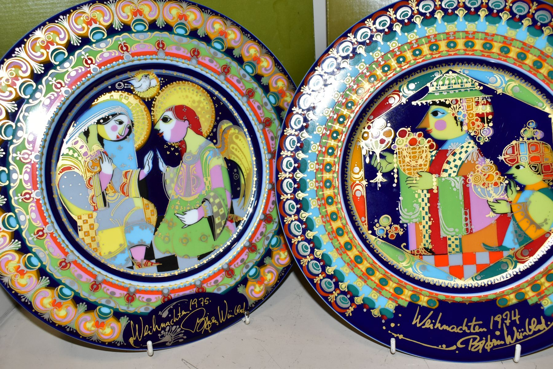 THREE BOXED ROSENTHAL CHRISTMAS PLATES, 1973, 1974 and 1975 all signed by Bijorn Wiinbald - Image 2 of 12