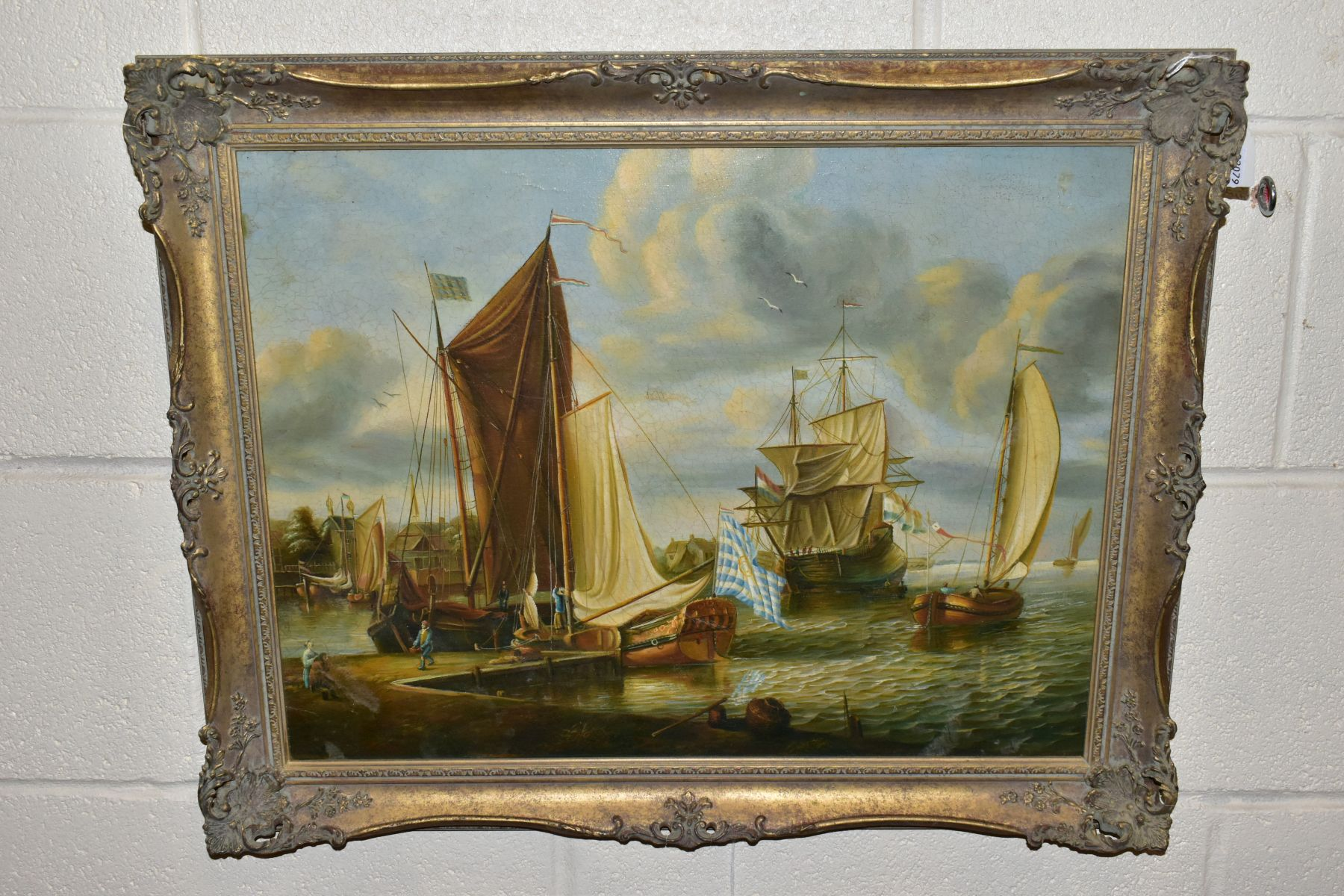 A MODERN 17TH CENTURY VIEW OF A DUTCH MARITIME SCENE after the original by Abraham Storck, unsigned,