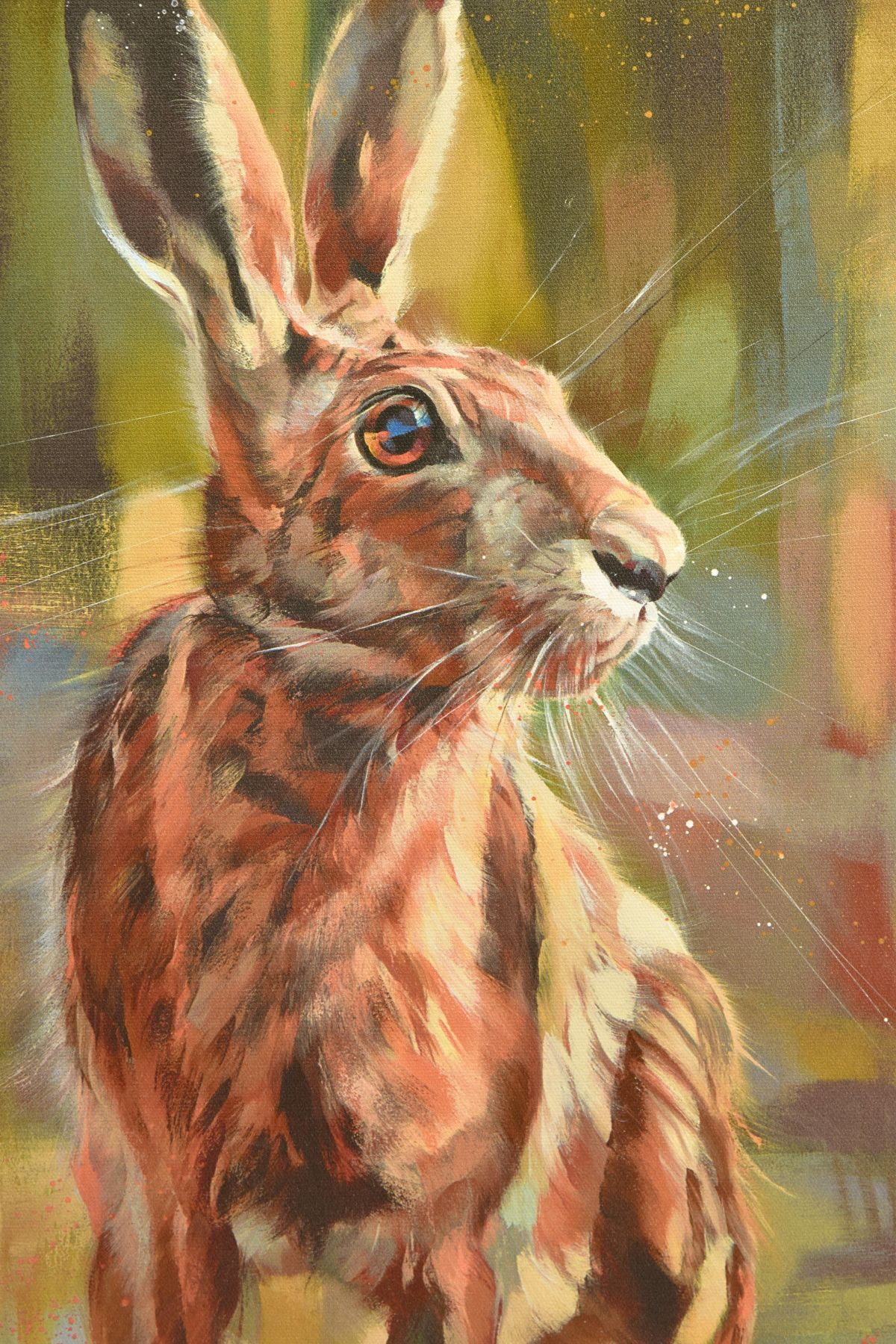 DEBBIE BOON (BRITISH CONTEMPORARY) 'POISED FOR ACTION' a limited edition print of Hare 57/195, - Image 2 of 7