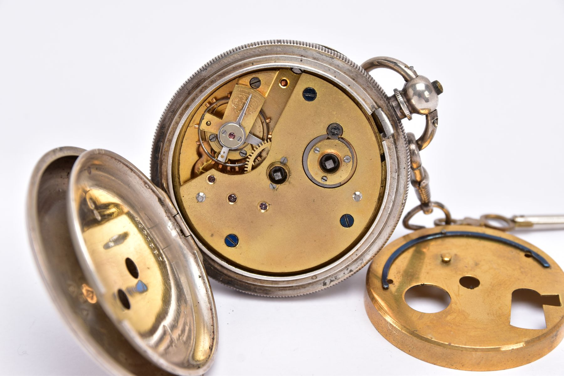 AN EARLY GEORGE V OPEN FACED SILVER POCKET WATCH, white dial signed 'Fattorini & Sons Ltd, Westgate, - Image 6 of 6