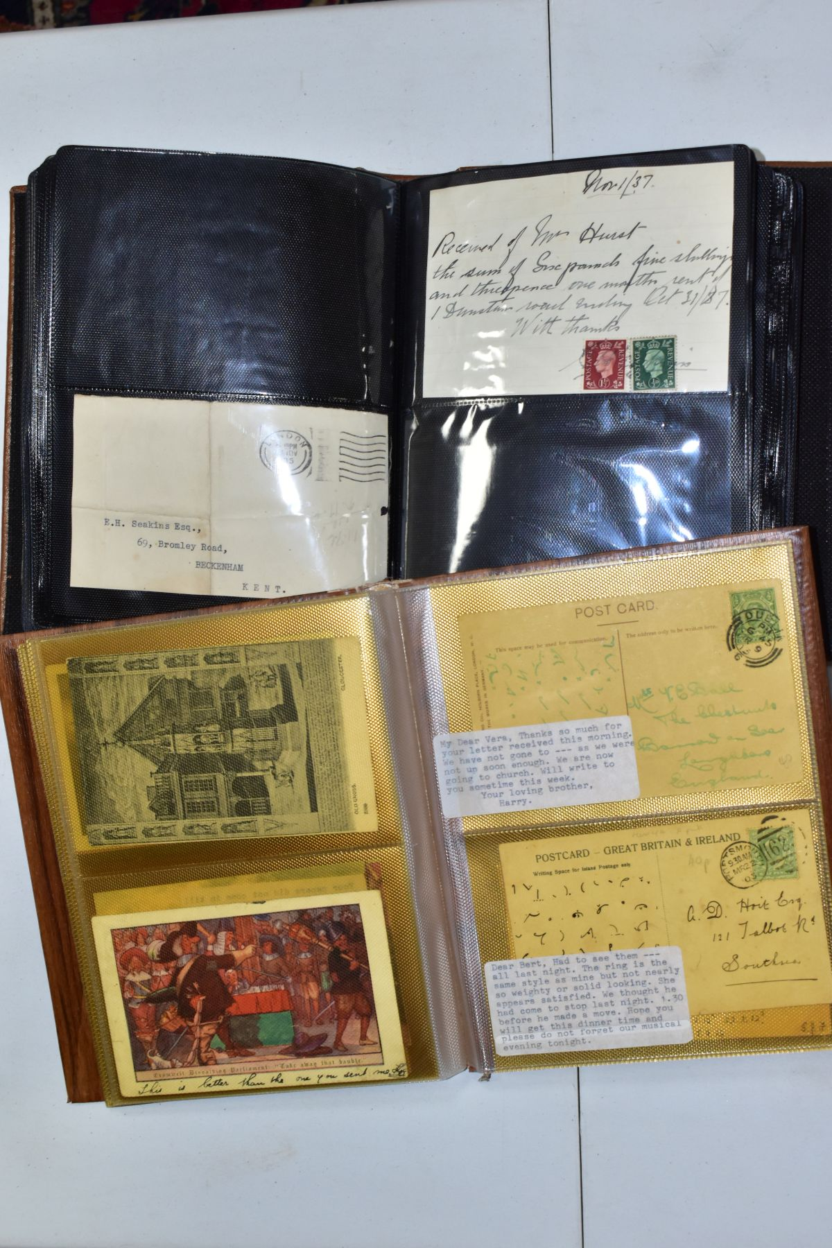 EPHEMERA AND POSTAL HISTORY, three albums containing an unusual collection of Arms and Crests, - Image 6 of 8