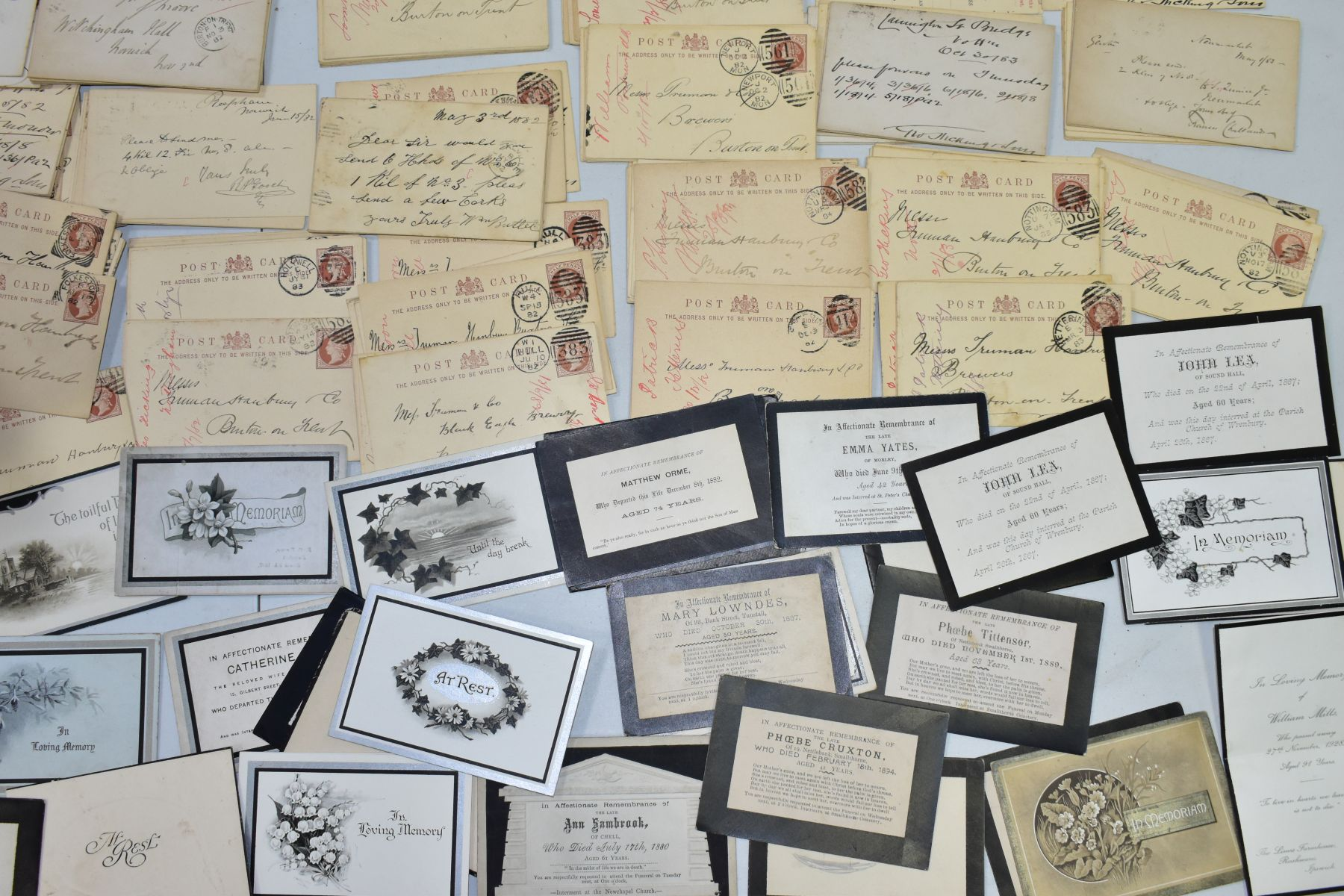TRUMAN, HANBURY, BUXTON & CO, a collection of over three hundred postcards relating to orders for - Image 2 of 4