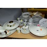 TWO ROYAL DOULTON PART DINNER SERVICES, 'Pillar Rose' pattern (T.C 1011) comprises two tureens and