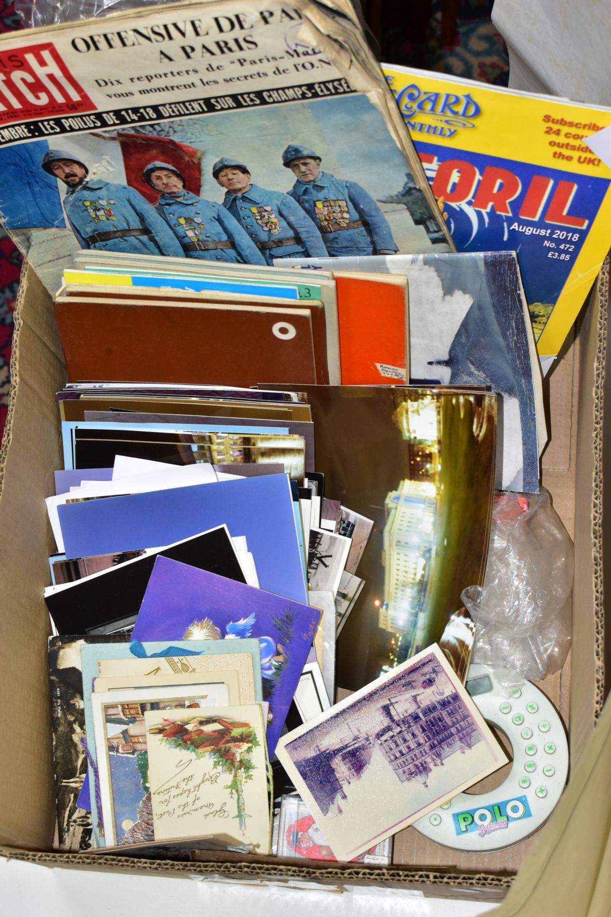 EPHEMERA, three boxes of ephemera, box one includes books, programmes, horse racing passes, Aston - Image 6 of 7