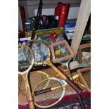 THREE BOXES OF SPORTING RELATED EQUIPMENT AND BOOKS, ETC, including golf balls, tees, Moor Hall Golf